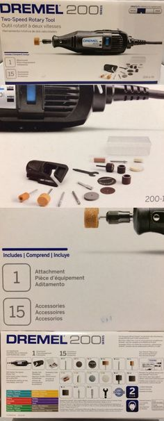 Rotary Tools and Accessories 34087: Dremel 200 Series 1/15 Two Speed Rotary Tool Kit With 15 Accessories -> BUY IT NOW ONLY: $48.99 on eBay!