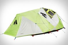 Eddie Bauer Katabatic 2 Solar Tent ($TBA) — three-person, four-season tent will likely be paired with the Sherpa 50 Solar Recharging Kit from Goal Zero. Spring 2014.