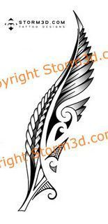 maori-silver-fern-New-Zealand-tattoo-images by Storm3d.com, via Flickr