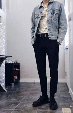 45 Fascinating Vintage Outfits For Men Trend iDeas ? Korean Fashion Men, Fashion Mode, Trendy Fashion, Womens Fashion, Mens Grunge Fashion, Boy Fashion, Fashion Vest, Korean Men, Dress Fashion