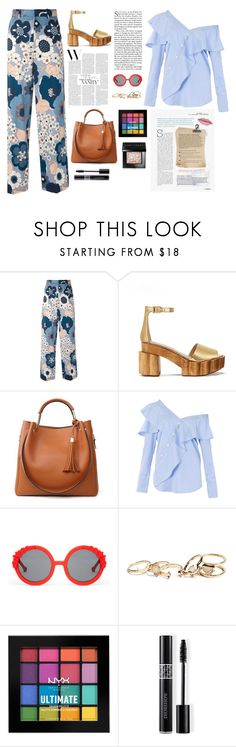 """Untitled #877"" by sofiy112 ❤ liked on Polyvore featuring Chloé, Tory Burch, FAIR+true, Preen, GUESS, NYX, Christian Dior and Bobbi Brown Cosmetics"