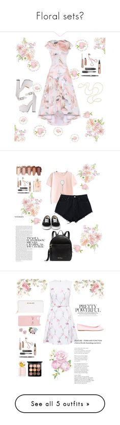 """""""Floral sets💐"""" by alena-sky ❤ liked on Polyvore featuring Maticevski, Chanel, Salvatore Ferragamo, ANNA BAIGUERA, MICHAEL Michael Kors, Ted Baker, Charlotte Russe, Palm Beach Jewelry, Dolce&Gabbana and Marc Jacobs"""