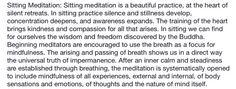 Sitting mediation