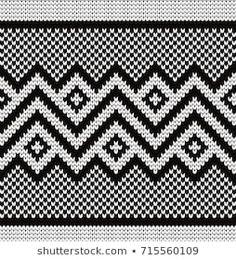 Gala titmouse's Portfolio on Shutterstock Knitted geometric seamless border. Tapestry Crochet Patterns, Bead Loom Patterns, Crochet Stitches Patterns, Weaving Patterns, Crochet Chart, Mosaic Patterns, Cross Stitch Patterns, Knitting Machine Patterns, Knitting Charts