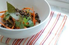 Warm Lentil Salad with Carrot Ribbons, Parsley and Thyme | Vegetarian | Green Lemonade