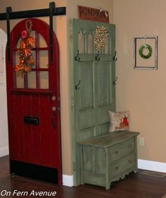 A Door & Dresser Turned Hall Tree