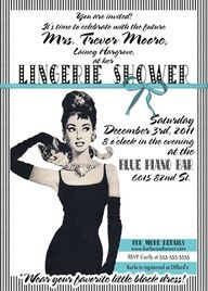 Vintage Tiffanys Invitation- Bachelorette party, Hens night, Lingerie Shower Birthday invite diy print file OR Printed is available. $15.99, via Etsy.