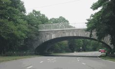 the beautiful stone underpasses of southern state parkway on long island
