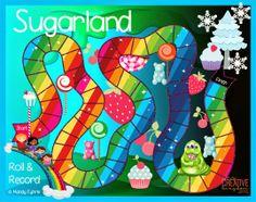Sugarland Board Game Printable FREEBIE! Super fun K-6 appropriate board game! ......Follow for free 'too-neat-not-to-keep' literacy tools other fun teaching stuff :)