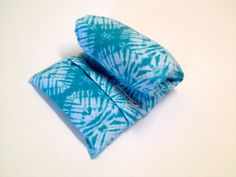 Large HEATING PAD,FLAX, Microwavable , Removable/Washable Flannel cover , Tie Dye Aqua,  Great Gift, Therapeutic, 100 % Flax seeds, Pillow