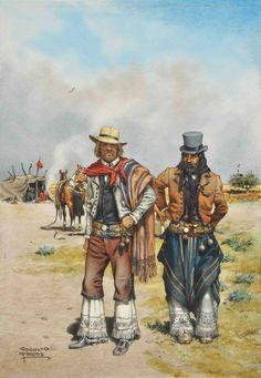 by Rodolfo Ramos Rio Grande Do Sul, Western Comics, Western Art, Lead Adventure, Folk, Science Illustration, American War, Historical Clothing, Vintage Photos