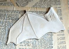 AMAZING BAT WING TUTORIAL---USING PAPER CLAY. Just in case you were making a sort of Dracula figure or something.