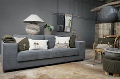 Pillows - plaids - Cosy Bags - Knit Factory - colours; green & white collection. Modern & natural looks for the home by ww.knitfactory.nl
