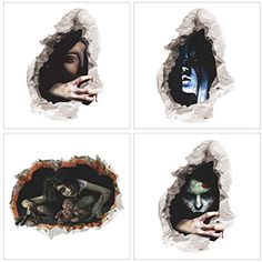4 Pack Halloween Removable Wall Stickers Zombie Ghost Bleeding Girl PUB Party Decoration *** Read more at the image link. (This is an affiliate link) Wall Stickers Halloween, Halloween Prints, Wall Stickers Murals, Halloween Ideas, Halloween Living Room, Bed In Living Room, Pop Up Advertising, Pvc Material, Trick Or Treat
