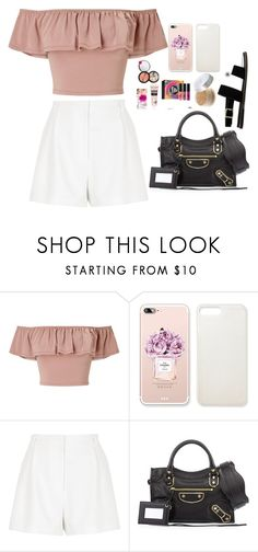 """""""Untitled #4357"""" by veronicaptr ❤ liked on Polyvore featuring Miss Selfridge, River Island, Balenciaga and ASOS"""
