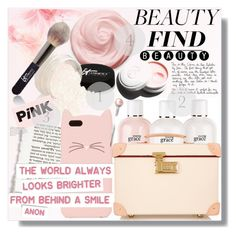 """Beauty Finds"" by myfashionwardrobestyle ❤ liked on Polyvore featuring beauty, It Cosmetics, Kate Spade, philosophy, Globe-Trotter, Garance Doré, Beauty, polyvoreeditorial and thebeautyset"