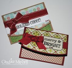 Christmas Gift Card Holders by candylou - Cards and Paper Crafts at Splitcoaststampers - Christmas Gift Card Holders by candylou – Cards and Paper Crafts at Splitcoaststampers - Holiday Greeting Cards, Christmas Cards, Diy Christmas, Gift Card Presentation, Gift Cards Money, Christmas Gift Card Holders, Card Envelopes, Sympathy Cards, Scrapbooking