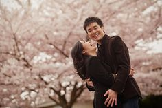Engagement Session with Cherry Blossoms in Vancouver.
