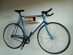 Basic wooden bike rack. Small bike storage by FarmerCreations