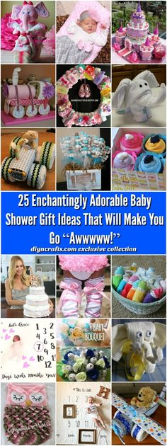 "25 Enchantingly Adorable Baby Shower Gift Ideas That Will Make You Go ""Awwwww!"" - Most of these are DIY projects anyone can do! This is best collection I found!! via @vanessacrafting"
