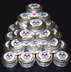 Another favor idea! These specific tins have lip balm in them, but you could do tins like these and put anything in them, then put a personalized sticker on top with sugar skulls and your wedding date perhaps? ~Christina