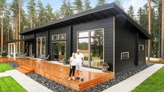 Most Impressive Black Log Homes Has Absolutely Gorgeous Everything - YouTube