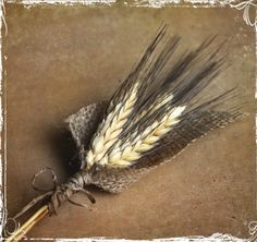 Wheat And Burlap Boutonniere - Perfect For Rustic Or Country Weddings