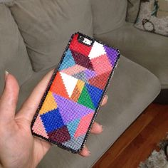 iPhone cover hama mini beads by limoonnn