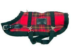 Bluemax 24.5-Inch Dog Coat, X-Large, Red Plaid
