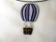 Hot air baloon Polymer Clay Jewelry, Pendant Necklace, Drop Earrings, Jewellery, Pendants, Hot, Crafts, Fashion, Jewelery