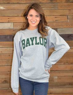 Keep warm in this great new BU crew neck sweatshirt, a Barefoot Campus Outfitter exclusive! Go Bears!