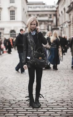 #whowhatwear Leather street style.