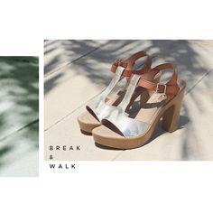 Sandalias de Tacón para Mujer Break&Walk. Tienda Online de Moda Joven y Calzado para Mujer.