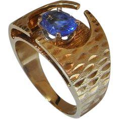 Ceylon Sapphire Engagement Ring Wedding Ring Anniversary Ring 14K ...
