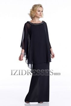 Sheath/Column High neck Chiffon Mother of the Bride - IZIDRESSES.COM at IZIDRESSES.com
