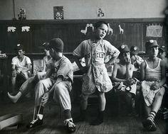 Little League Spokesman voices players, 1954 photo by Yale Joel