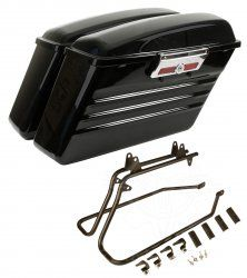 HT Series Hard Saddlebags for Harley Softail Models (Standard, Deluxe, Heritage, Fat Boy)