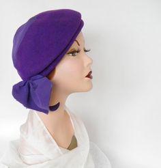 vintage purple felt hats | 1930s/40s tilt hat, vintage purple felt, Milgrim. $42.00, via Etsy.