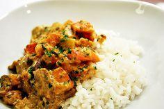 rice with pumpkin-mushroom-sauce