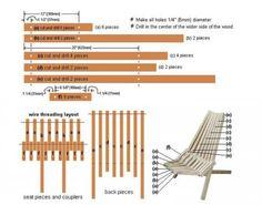 Складной стул для дачи и балкона своими руками