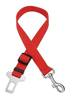 DAISY*VZU Pet Car Seat Safty Belt Seatbelt Harness Lead Clip Pet Cat Dog Safety Adjustable (Red) *** You can get additional details at the image link.