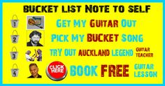 Got a guitar song on your bucket list? Click the image to find out how long it will take you to learn your bucket list song and at what investment. Click now. Procrastinate later.