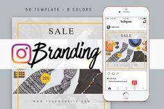 Instagram Branding - Web Elements socialmedia  / templates / instagram / pinterest / facebook / twitter / design / post / mockup / web / webdesign / socialdesign / lifestyle