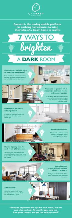 7 ways to brighten a dark room