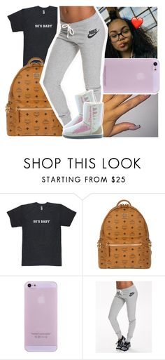 """""""I Have Beef With Nobody ㊙"""" by santo-wife ❤ liked on Polyvore featuring beauty, MCM, NIKE and UGG Australia"""