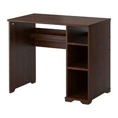 BORGSJÖ Desk - brown - IKEA