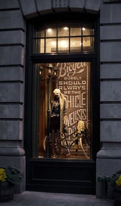Ralph Lauren window display #cycling #fashion #windowdisplay