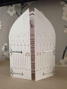 I made this wedding invitation for a castle wedding venue Julia Perry
