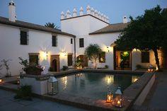 Courtyard pool at Andalucian hacienda, Spain.
