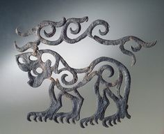 Pazyryk culture, Applique: Tiger with Stag's Horns, 6th century BC (source).